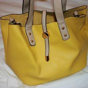 Charming Charlie Yellow Handbag